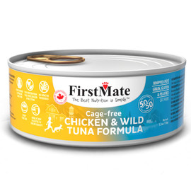 FirstMate 50/50 Cage-Free Chicken & Wild Tuna Formula Canned Cat Food