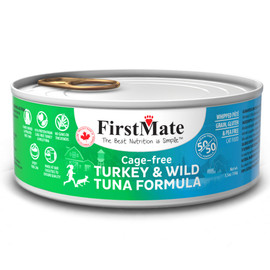 FirstMate 50/50 Cage-Free Turkey & Wild Tuna Formula Canned Cat Food