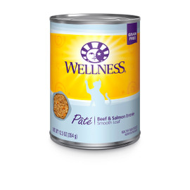 Wellness Complete Health Pate Beef & Salmon Canned Cat Food