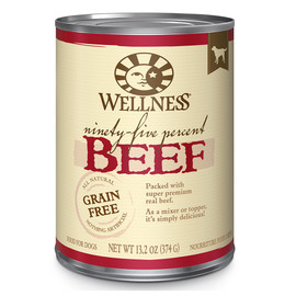 Wellness Ninety-Five Percent Mixer or Topper Beef Canned Dog Food