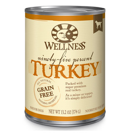Wellness Ninety-Five Percent Mixer or Topper Turkey Canned Dog Food