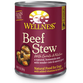 Wellness Homestyle Stew Grain Free Beef with Carrots & Potatoes Canned Dog Food