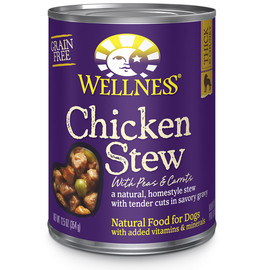 Wellness Homestyle Stew Grain Free Chicken with Peas & Carrots Canned Dog Food
