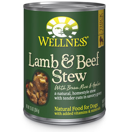 Wellness Homestyle Stew Lamb & Beef with Brown Rice & Apples Canned Dog Food