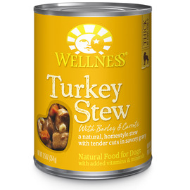 Wellness Homestyle Stew Turkey with Barley & Carrots Canned Dog Food