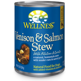 Wellness Homestyle Stew Venison & Salmon with Potatoes & Carrots Canned Dog Food