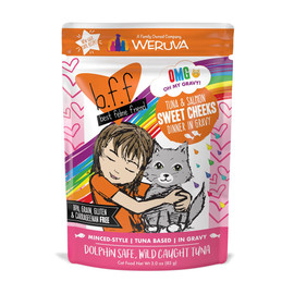 B.F.F. Tuna & Salmon Sweet Cheeks Recipe in Gravy Cat Food Pouch