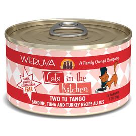Cats in the Kitchen Two Tu Tango Sardine, Tuna and Turkey Recipe Au Jus Canned Cat Food