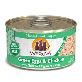 Weruva Green Eggs & Chicken with Chicken & Egg in Pea Soup Canned Cat Food