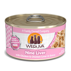 Weruva Nine Liver with Chicken and Chicken Liver in Gravy Canned Cat Food