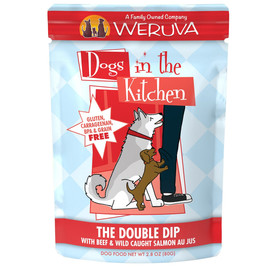 Dogs in the Kitchen The Double Dip with Beef & Wild Caught Salmon Au Jus Wet Dog Food - Front