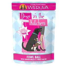 Dogs in the Kitchen Fowl Ball Chicken Breast & Turkey Au Jus Dog Food Pouch