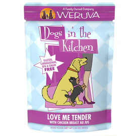 Weruva Dogs in the Kitchen Love Me Tender with Chicken Breast Au Jus Dog Food Pouch