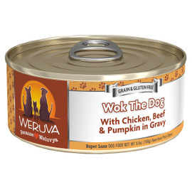 Weruva Wok the Dog with Chicken, Beef and Pumpkin in Gravy Canned Dog Food