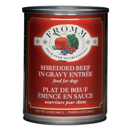 Fromm Four-Star Shredded Beef in Gravy Entree Canned Dog Food
