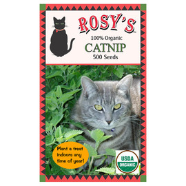Rosy's 100% Organic Catnip Seed Packet
