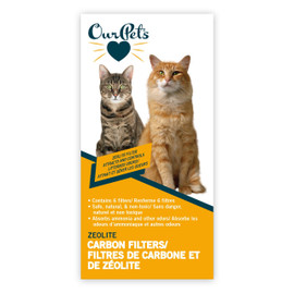 OurPets SmartScoop Litter Box Zeolite Carbon Filters