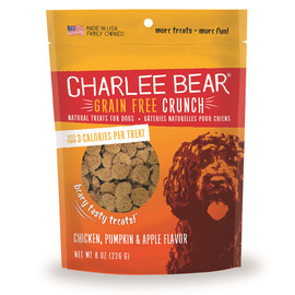 Charlee Bear Crunch Chicken, Pumpkin & Apple Flavor Grain-Free Dog Treats