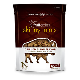 Fruitables Skinny Minis Grilled Bison Flavor Mini Size Dog Treats