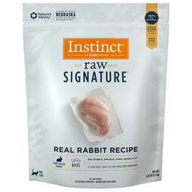Instinct Raw Signature Frozen Bites Real Rabbit Recipe Cat Food