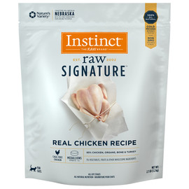 Instinct Raw Signature Frozen Medallions Real Chicken Recipe Cat Food