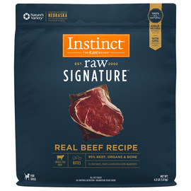 Instinct Raw Signature Frozen Bites Real Beef Recipe Dog Food