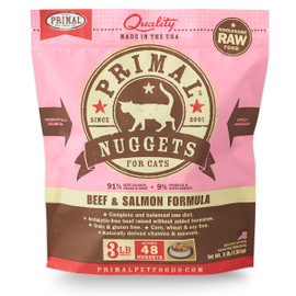 Primal Raw Frozen Feline Beef & Salmon Formula Cat Food
