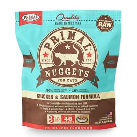 Primal Raw Frozen Feline Nuggets Chicken & Salmon Formula Cat Food