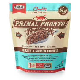 Primal Pronto Raw Frozen Feline Chicken & Salmon Formula Cat Food