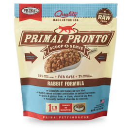 Primal Pronto Raw Frozen Feline Rabbit Formula Cat Food