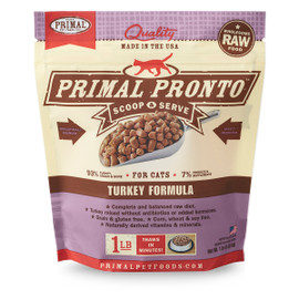 Primal Pronto Raw Frozen Feline Turkey Formula Cat Food