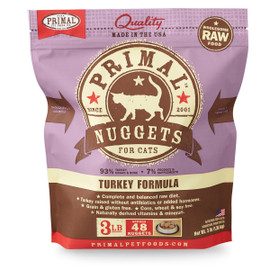 Primal Raw Frozen Feline Nuggets Turkey Formula Cat Food