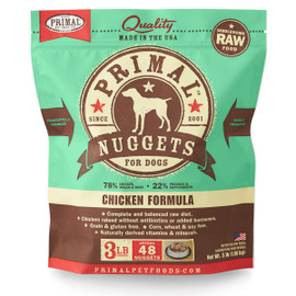 Primal Raw Frozen Canine Nuggets Chicken Formula Dog Food