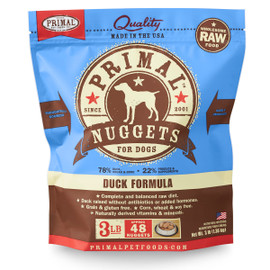 Primal Raw Frozen Canine Nuggets Duck Formula Dog Food