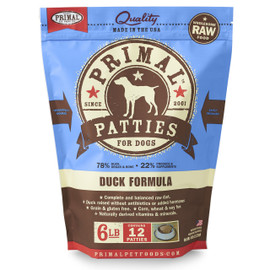 Primal Raw Frozen Canine Patties Duck Formula Dog Food