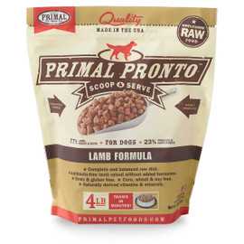 Primal Pronto Raw Frozen Canine Lamb Formula Dog Food