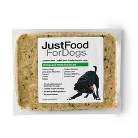 JustFoodForDogs Chicken & White Rice Frozen Cooked Dog Food