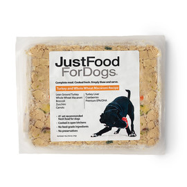 JustFoodForDogs Turkey & Whole Wheat Macaroni Frozen Cooked Dog Food