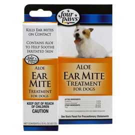 Four Paws Aloe Ear Mite Treatment for Dogs