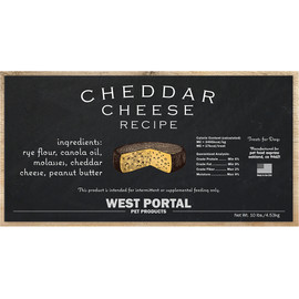 West Portal Natural Cheddar Cheese Dog Biscuits