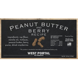 West Portal Natural Peanut Butter & Berry Dog Biscuits