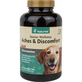 NaturVet Senior Aches and Discomforts Chewable Dog Tablets