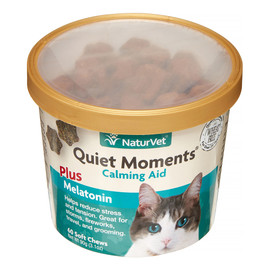 NaturVet Quiet Moments Calming Aid Soft Cat Chews