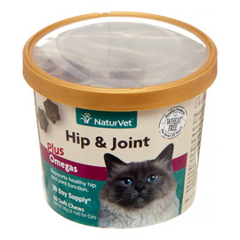 NaturVet Hip and Joint Soft Chews for Cats