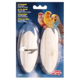 Living World Cuttlebone with Holder Small Twinpack Bird Treat