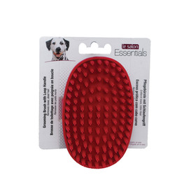 Le Salon Essentials Rubber Grooming Dog Brush with Loop Handle