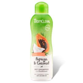 TropiClean Papaya & Coconut Luxury 2-in-1 Pet Shampoo & Conditioner