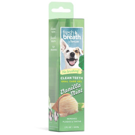 Fresh Breath By TropiClean Vanilla Mint Dental & Oral Care Gel for Dogs