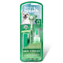 Fresh Breath By TropiClean Oral Care Kit for Dogs
