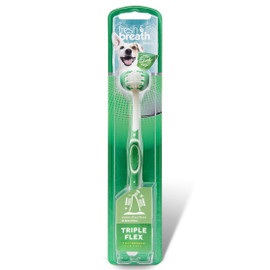 Fresh Breath By TropiClean TripleFlex Dog Toothbrush